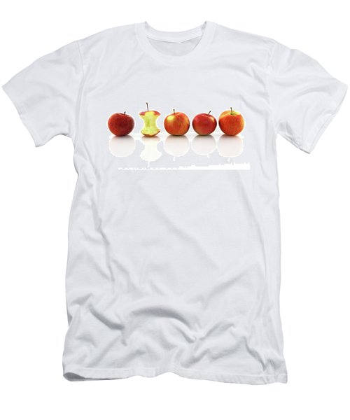 Apple Core Among Whole Apples Men's T-Shirt (Slim Fit) by GoodMood Art