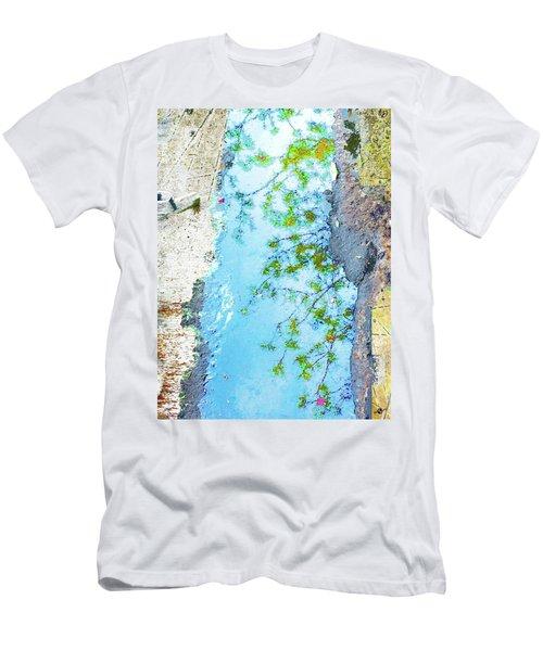 Aqua Metallic Clear Men's T-Shirt (Athletic Fit)