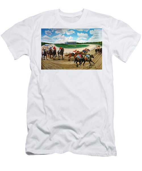Aqueduct Racetrack Men's T-Shirt (Athletic Fit)