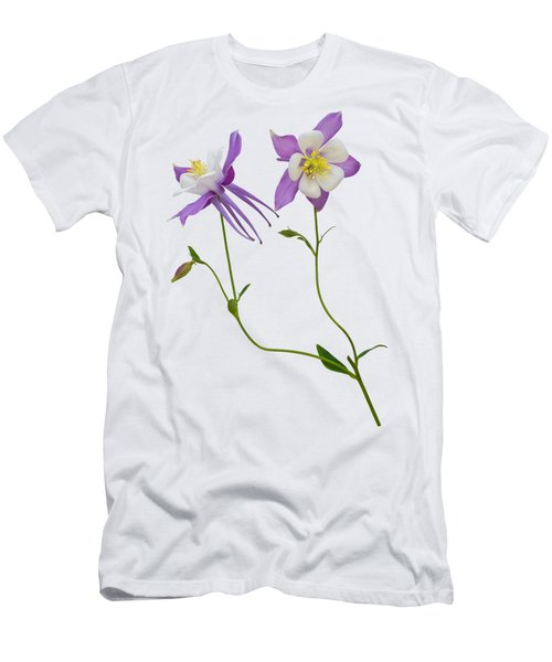 Aquilegia Specimen Men's T-Shirt (Slim Fit) by Jane McIlroy