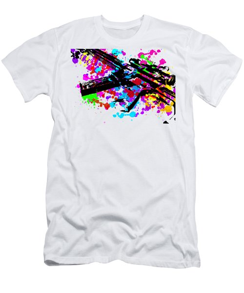 Ar15 Pop Art Men's T-Shirt (Athletic Fit)