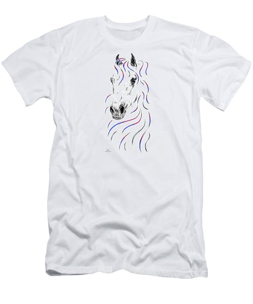 Arabian Horse Style Men's T-Shirt (Athletic Fit)