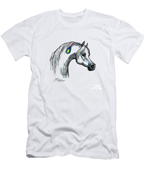 Arabian Peacock Feather Men's T-Shirt (Athletic Fit)