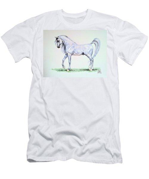Arabian Stallion  Men's T-Shirt (Slim Fit) by Cheryl Poland