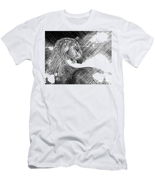 Arabian Sunrise Sketch Men's T-Shirt (Athletic Fit)