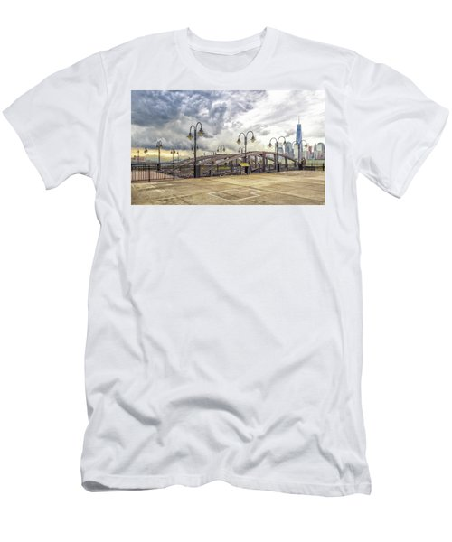 Arc To Freedom One Tower Image Art Men's T-Shirt (Athletic Fit)