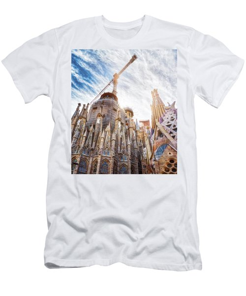 Architectural Details Of The Sagrada Familia In Barcelona Men's T-Shirt (Athletic Fit)