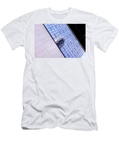 Architecture Photo On Its Side With Windows And Cement In Grand Rapids Michigan Men's T-Shirt (Athletic Fit)