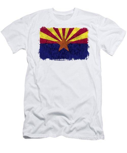 Arizona Flag Men's T-Shirt (Athletic Fit)
