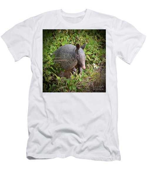 Armadillo And Flower Men's T-Shirt (Athletic Fit)