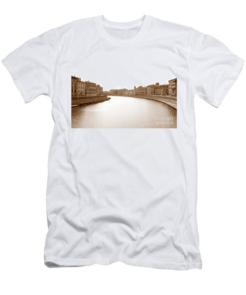 Arno River In Pisa Men's T-Shirt (Athletic Fit)