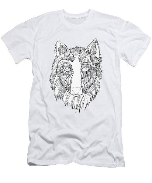 Arnou The Wolf Men's T-Shirt (Slim Fit) by Chikkas By Fran Galea