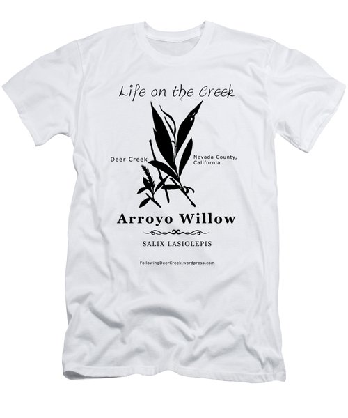 Arroyo Willow - Black Text Men's T-Shirt (Athletic Fit)