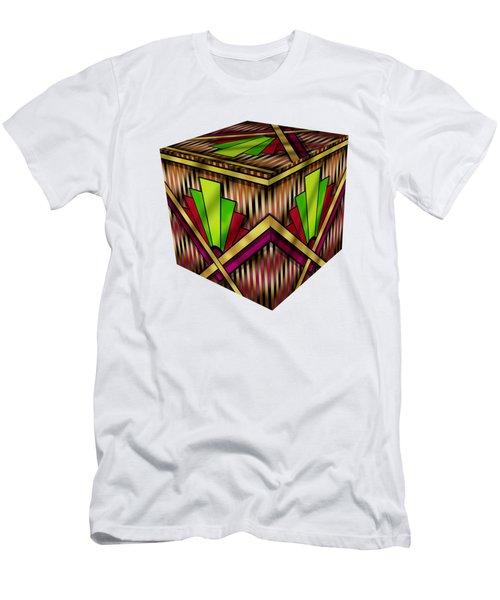 Art Deco 13 Cube Men's T-Shirt (Slim Fit) by Chuck Staley
