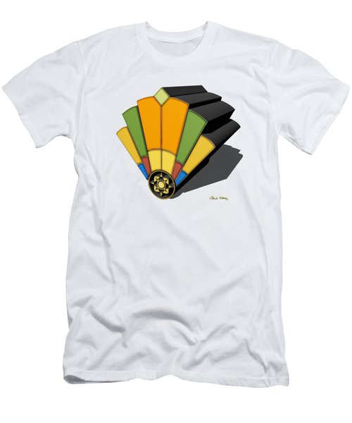 Art Deco Fan 8 3 D Men's T-Shirt (Athletic Fit)