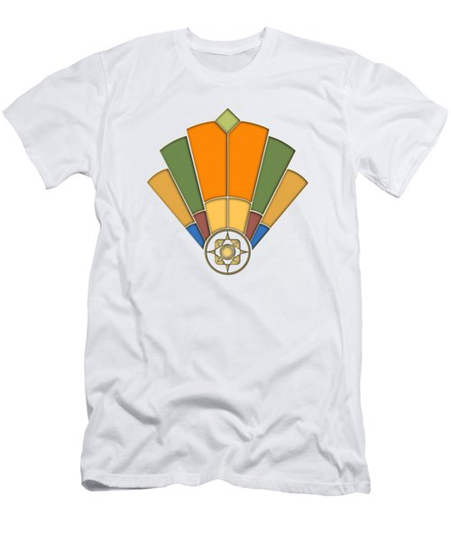 Art Deco Fan 8 Transparent Men's T-Shirt (Athletic Fit)