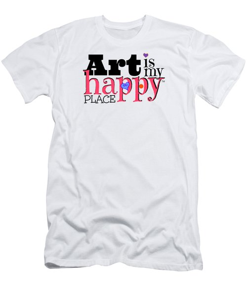Art Is My Happy Place Men's T-Shirt (Athletic Fit)