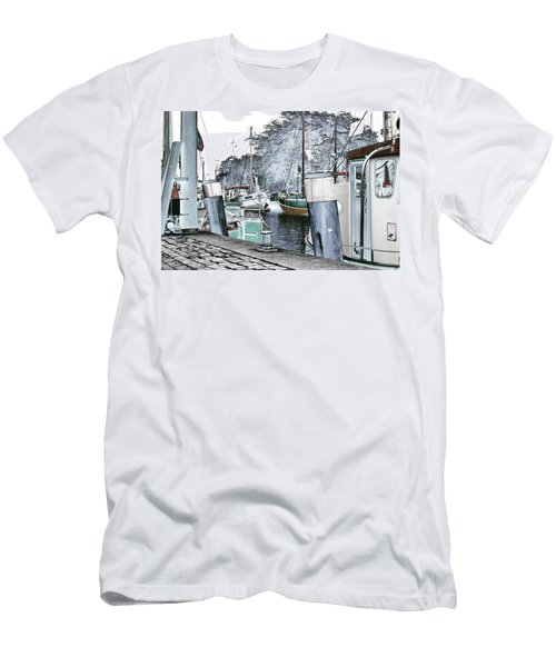 Art Print Boat 2 Men's T-Shirt (Athletic Fit)