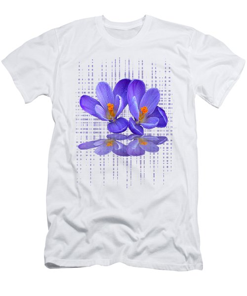 Purple Rain - Vertical Men's T-Shirt (Athletic Fit)