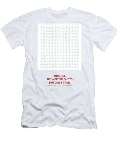 Wayne Gretzky Sports Quotes Poster Men's T-Shirt (Athletic Fit)