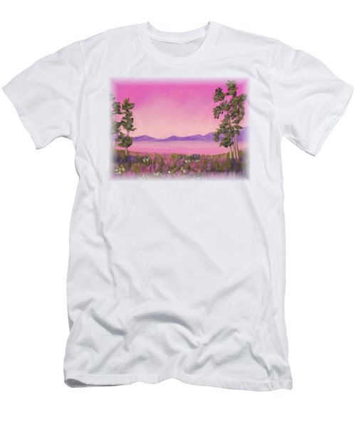 Evening In Pink Men's T-Shirt (Athletic Fit)