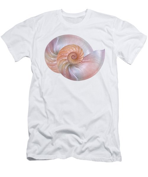 Pink Pearlescent Nautilus Shells Men's T-Shirt (Athletic Fit)