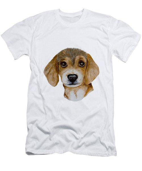 Beagle Puppy Men's T-Shirt (Slim Fit) by John Stuart Webbstock