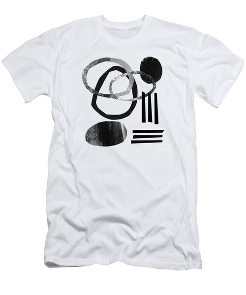 Black And White- Abstract Art Men's T-Shirt (Athletic Fit)