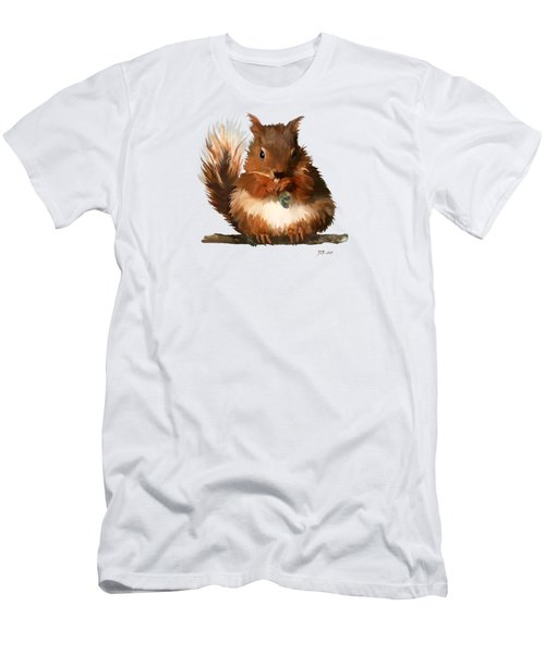 Young Squirrel Men's T-Shirt (Slim Fit) by Bamalam  Photography