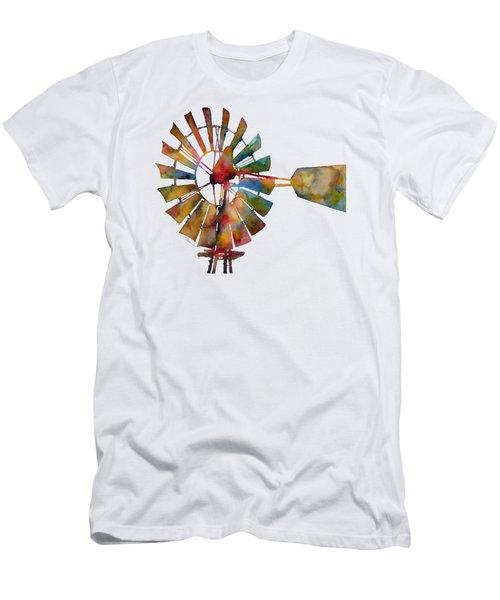 Windmill Men's T-Shirt (Slim Fit) by Hailey E Herrera