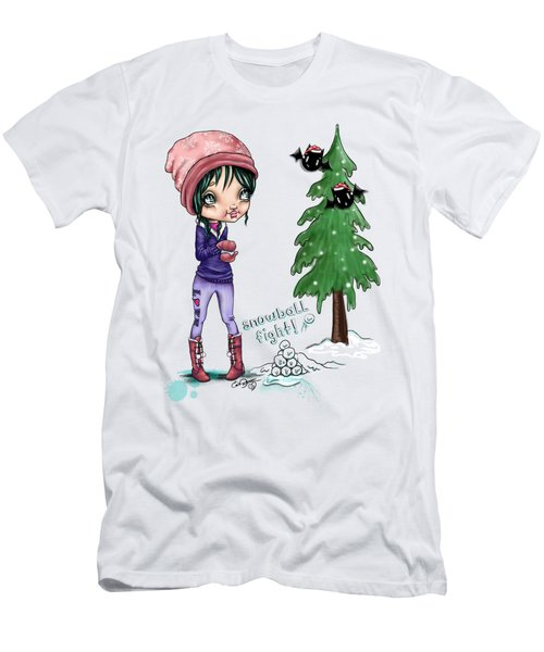 Snowball Fight Men's T-Shirt (Athletic Fit)