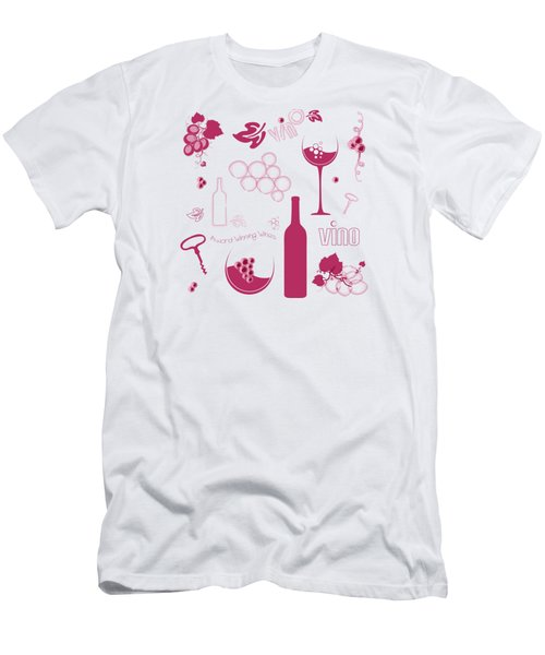 Wine Background Pattern Men's T-Shirt (Athletic Fit)