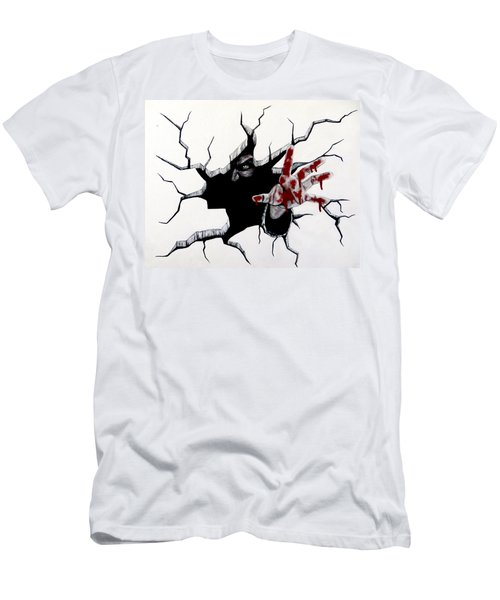 Men's T-Shirt (Slim Fit) featuring the painting The Demon Inside by Teresa Wing