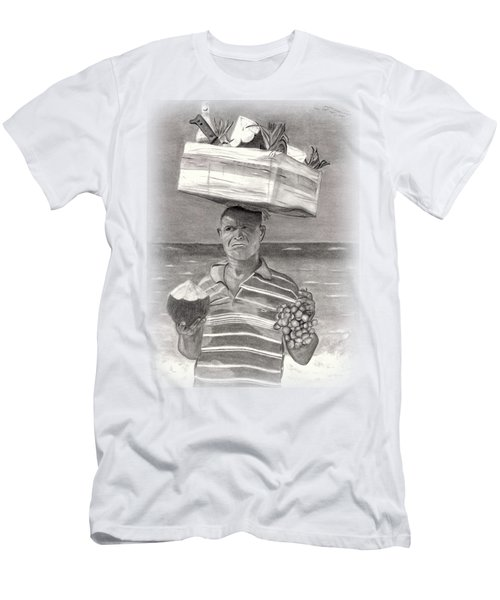 Island Street Vendor Men's T-Shirt (Slim Fit) by Tom Podsednik