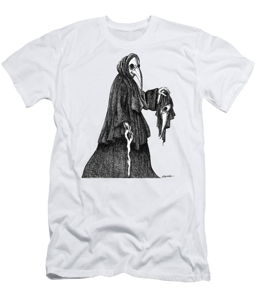 Plague Doctor Men's T-Shirt (Slim Fit) by Akiko Okabe