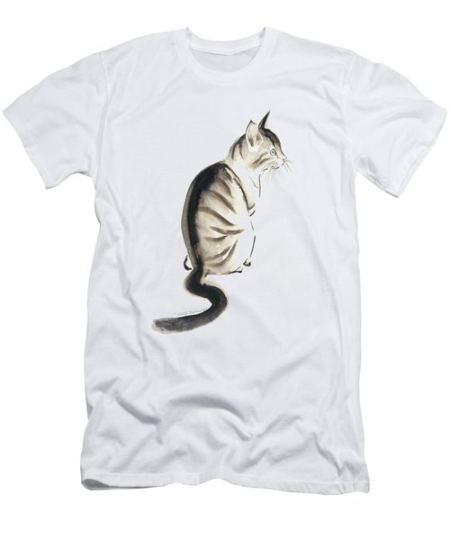 Cat Art 2 Men's T-Shirt (Slim Fit) by Melly Terpening