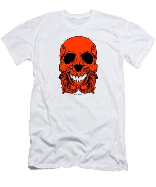 Red Skull  Men's T-Shirt (Slim Fit) by Rafael Salazar