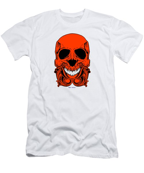 Red Skull  Men's T-Shirt (Athletic Fit)