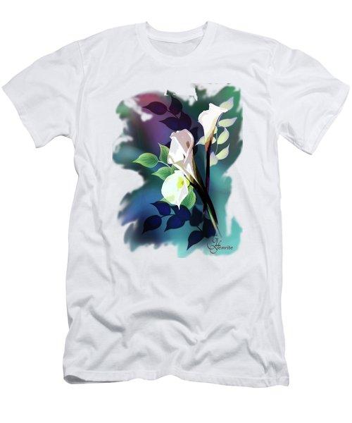 Bouquet In White Men's T-Shirt (Athletic Fit)
