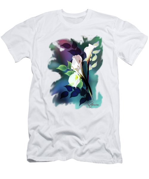 Bouquet In White Men's T-Shirt (Athletic Fit)