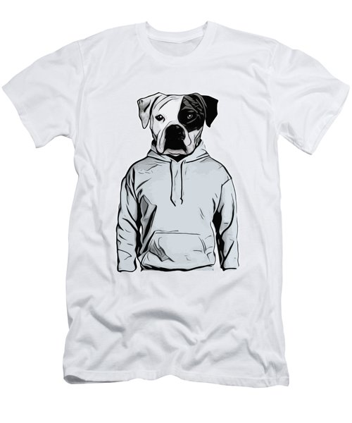 Men's T-Shirt (Slim Fit) featuring the painting Cool Dog by Nicklas Gustafsson