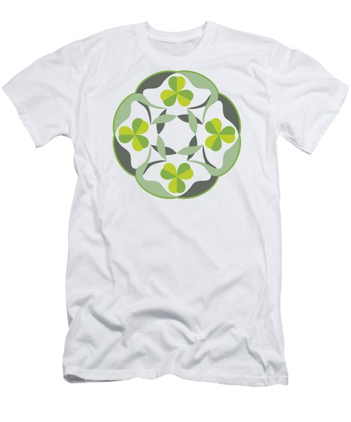 Celtic Inspired Shamrock Graphic Men's T-Shirt (Slim Fit) by MM Anderson