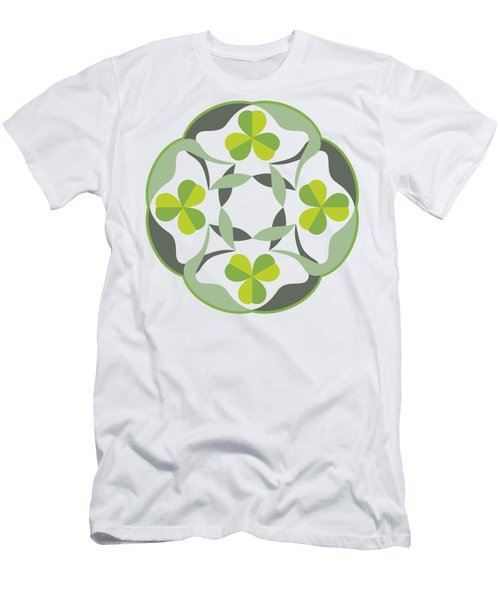 Celtic Inspired Shamrock Graphic Men's T-Shirt (Athletic Fit)