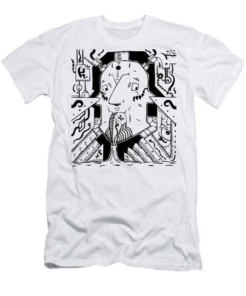 Surrealism Oil Pump Men's T-Shirt (Athletic Fit)