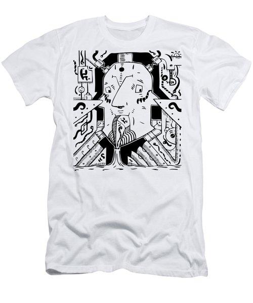 Surrealism Oil Pump Men's T-Shirt (Athletic Fit)