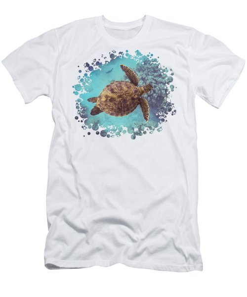 Swimming Honu From Above Men's T-Shirt (Athletic Fit)