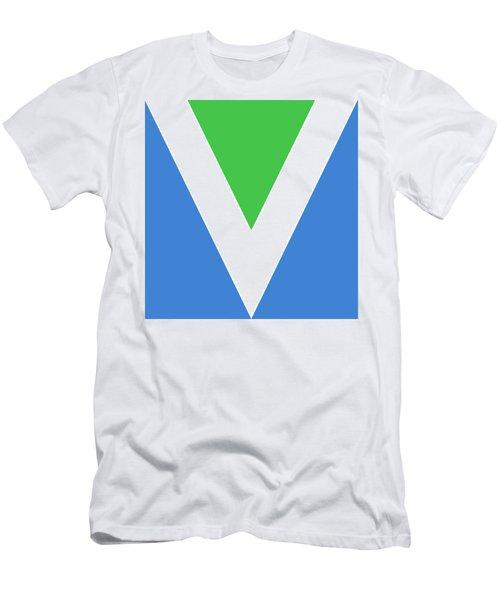 Official Vegan Flag Men's T-Shirt (Athletic Fit)