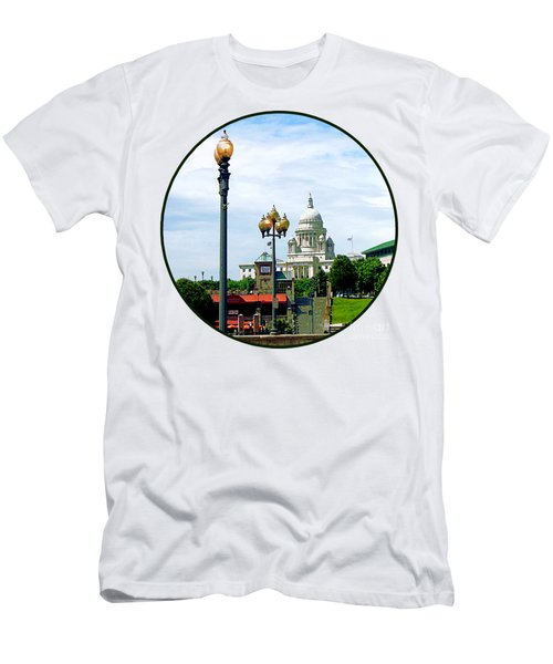 Capitol Building Seen From Waterplace Park Men's T-Shirt (Slim Fit) by Susan Savad