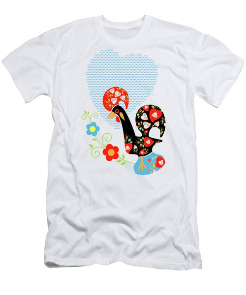 Portuguese Rooster Men's T-Shirt (Athletic Fit)