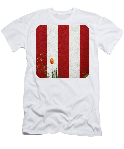 Men's T-Shirt (Slim Fit) featuring the photograph Temple Wall by Ethna Gillespie
